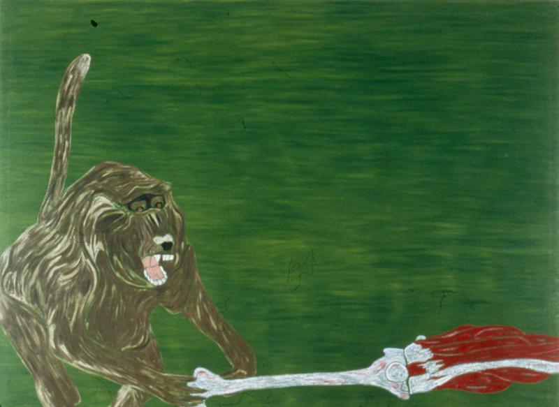 """Baboon  1982 • Oil on canvas, 72"""" x 96"""