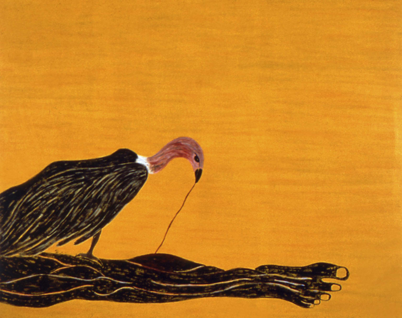 "Vulture  1982 • Oil on canvas, 66"" x 78"