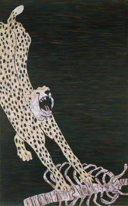 """Cheetah  1982 • Oil on canvas, 96"""" x 60"""