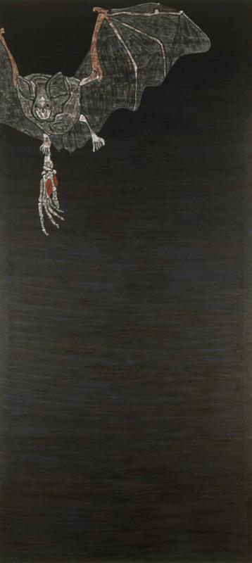 "Bat  1982 • Oil on canvas, 120"" x 54"