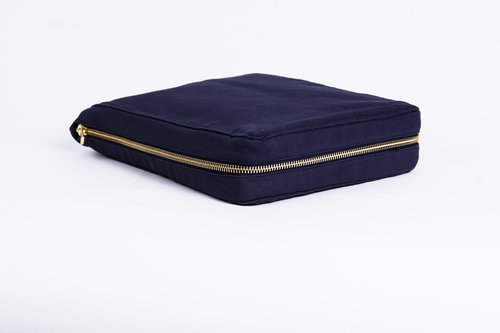 NAVY Hand-Stitched Essential Oils Carrier and storage bag