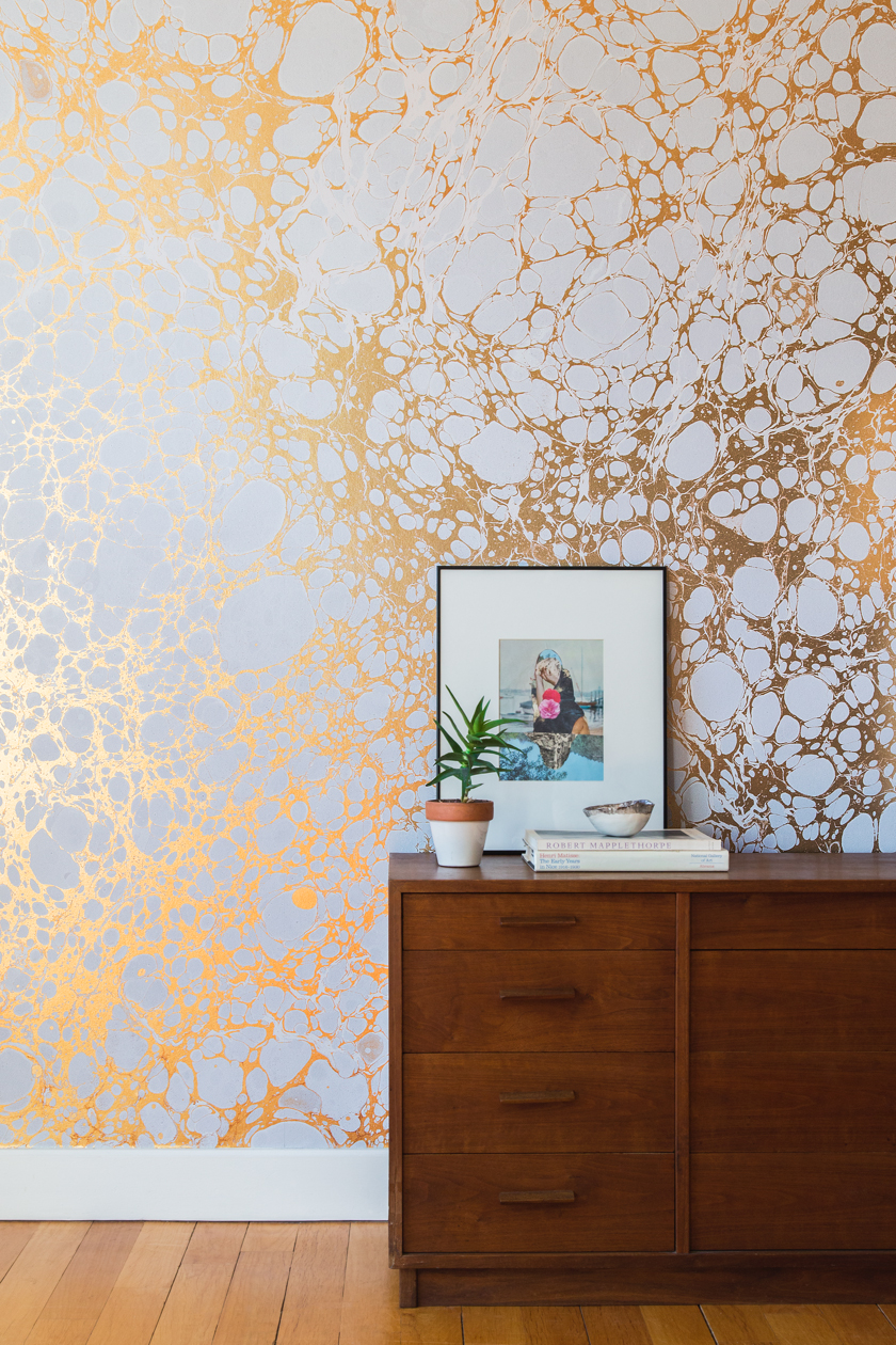 Calico Wallpaper Photo from  Design Milk . Photo by  The White Arrow