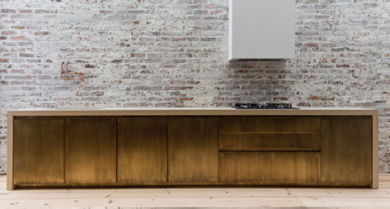 Bert & May's Rich, Burnished, Brushed Brass Kitchen, which I've blogged about before  here