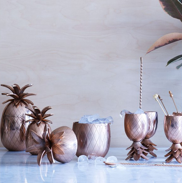 Copper Pineapples by  Oliver Bonas
