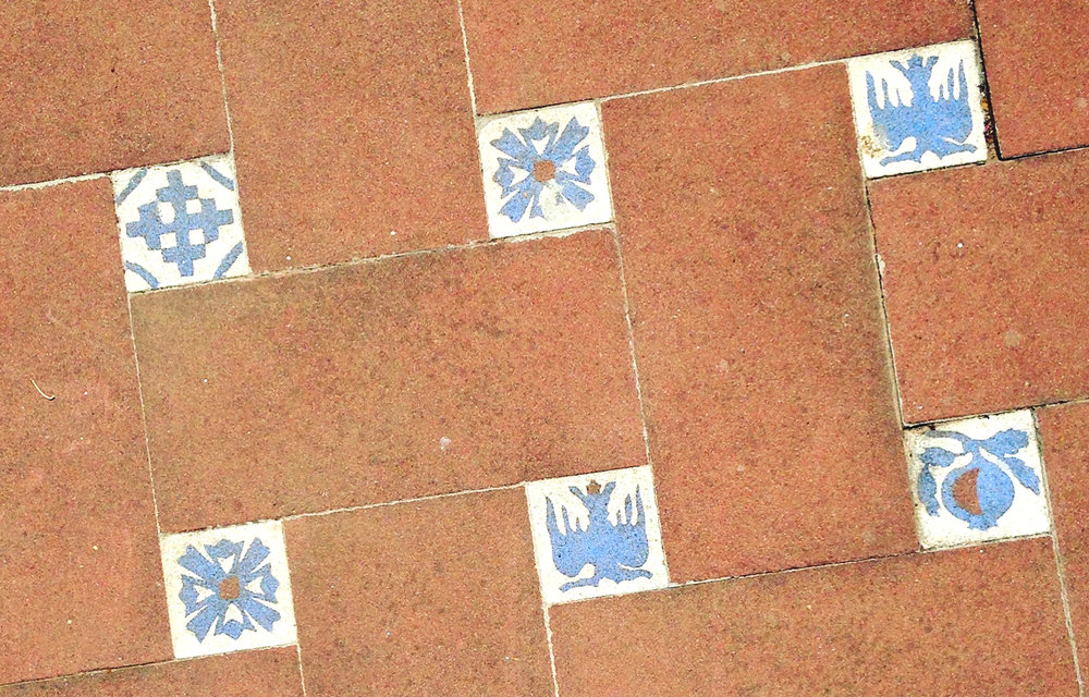 Spanish tiles blue traditional