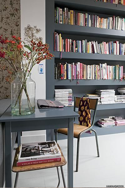 Organised open storage in a small space adds a great focal point. Image  sheerlux.com