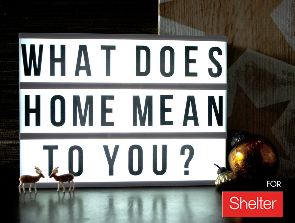 What does home mean to you? For Shelter