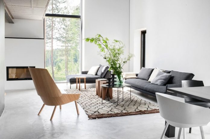 A modern basics masterclass: spaciousness and clean lines.  Image source.