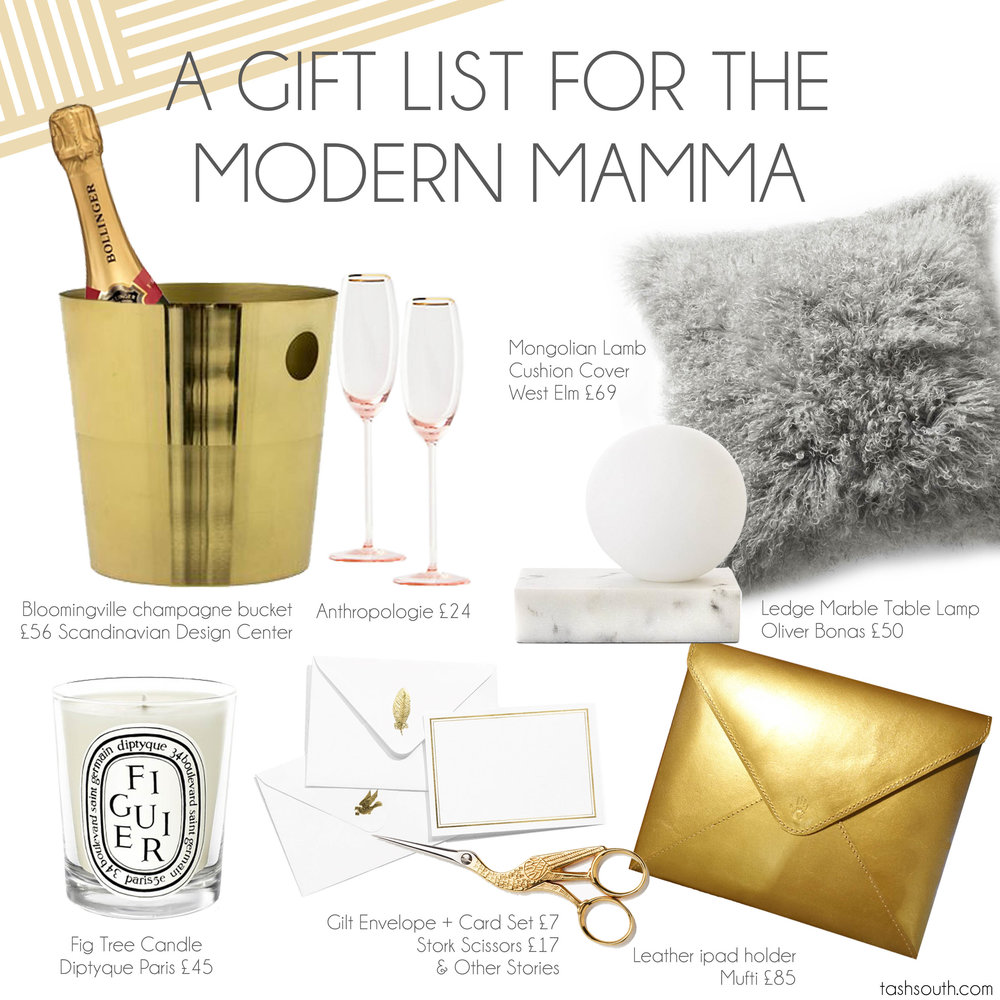 A gift list for the modern mamma