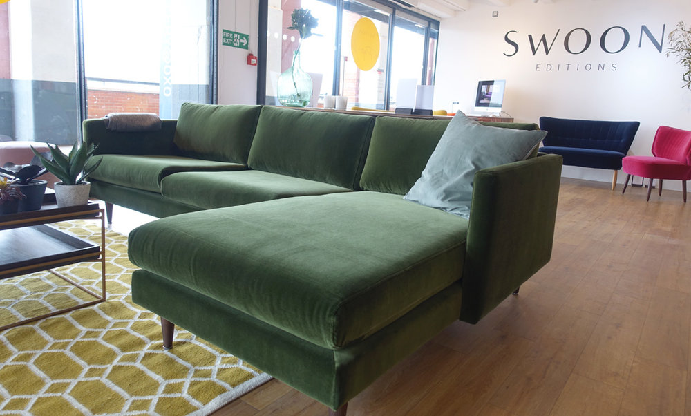 Swoon Editions' Tivoli Sofa at the Oxo Tower pop-up