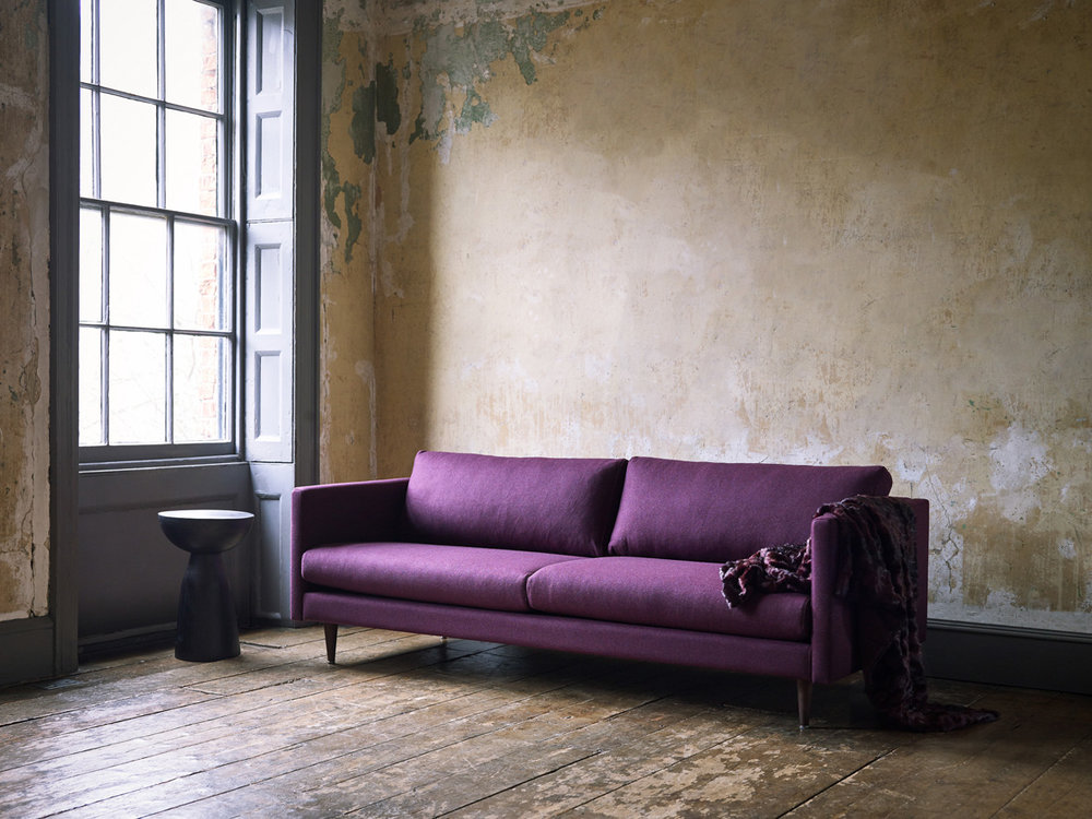 The modern Tivoli sofa in purple
