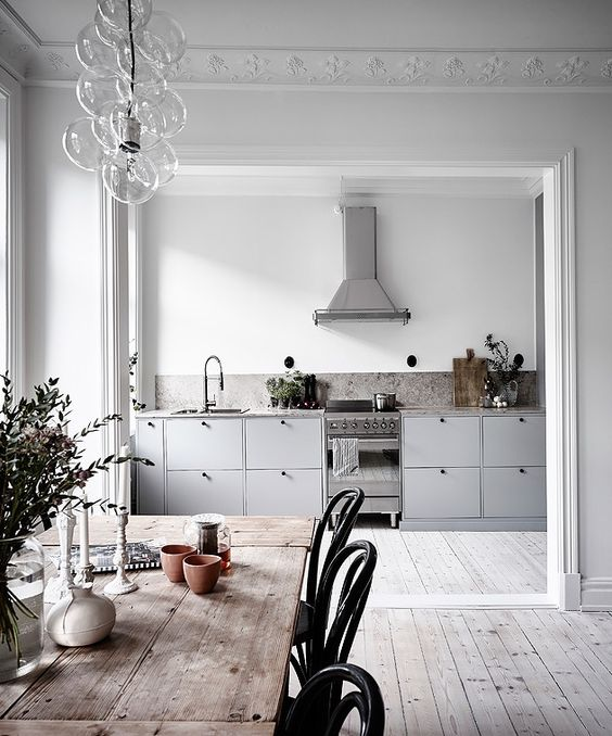 A modern kitchen sits beautifully in this Edwardian home.