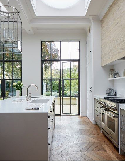 In a large kitchen it's easy to plan a perfect golden triangle, but it's not always a possible in smaller kitchens.