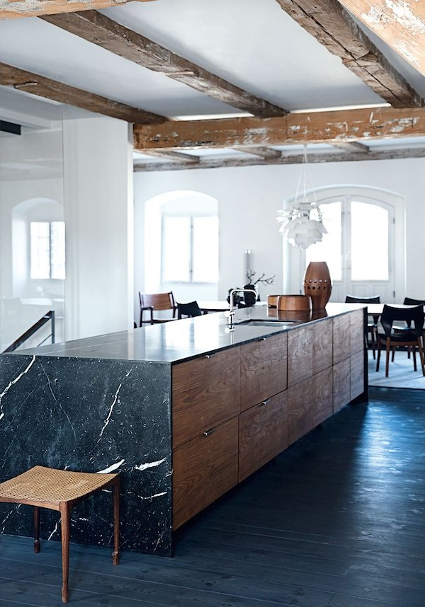 Have a look at this brilliant kitchen by  Vosgesparis  using only drawers as storage.