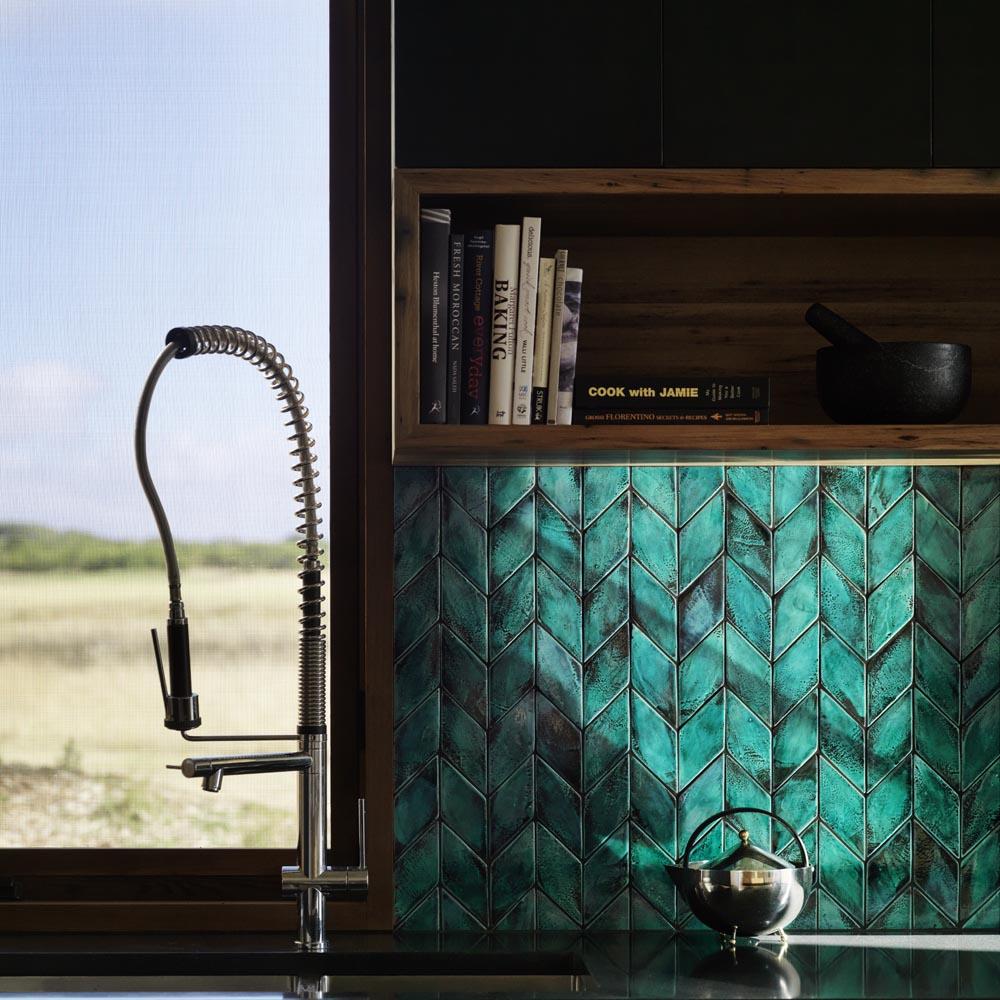 Beautiful tiles will make an eye-catching splashback display. Image: Domus New Terracotta