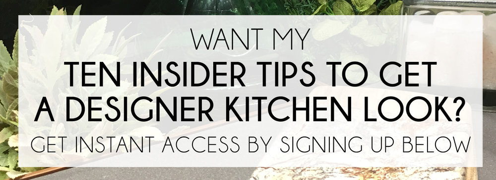 Ten Insider Tips To Get A Designer Kitchen Look