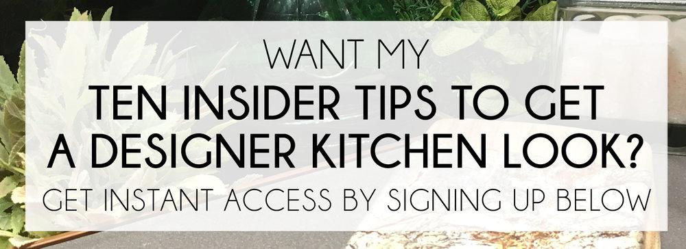Ten Insider Tips To Get A Designer Kitchen Look