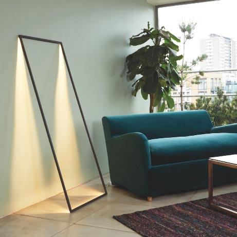 The  Shadow  lamp makes a great statement, lean it against a wall and it creates a frame-shaped shadow of light.