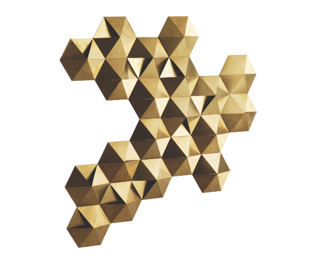 The Tessellate wall light is designed by Aaron Probyn and is exclusive to Habitat. It's a great piece and its shape allows it to be used in multiples.