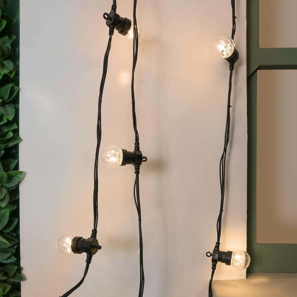 Just add simple  festoon lighting  and some music for an instant party atmosphere.
