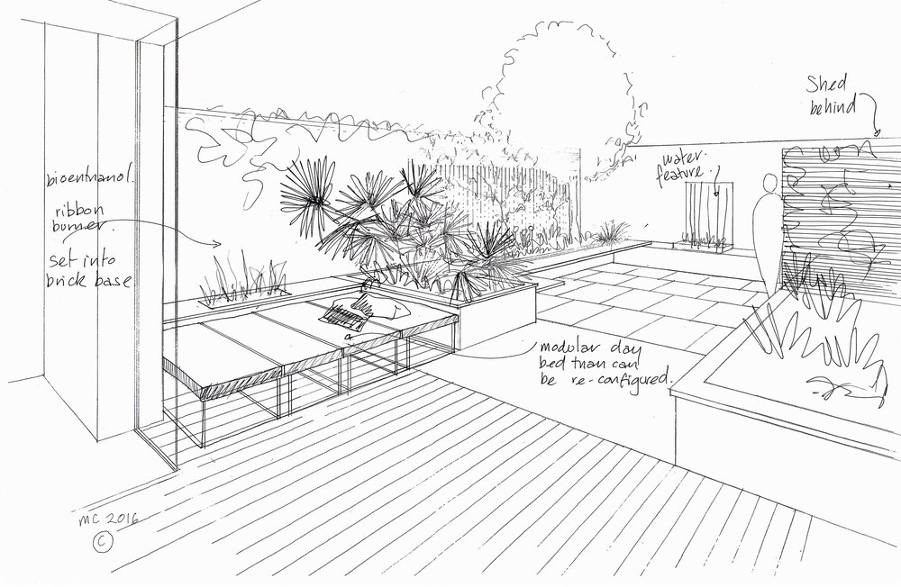 The original garden design by Grozone Landscape Architects