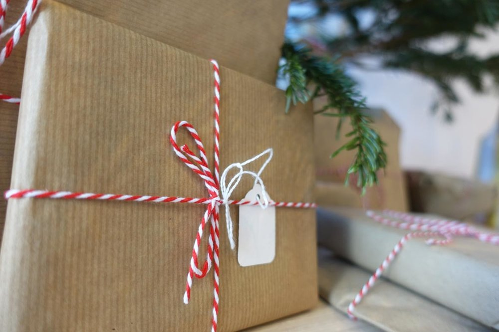 As always, I keep my wrapping simple and recyclable. Brown paper with minimal decoration.