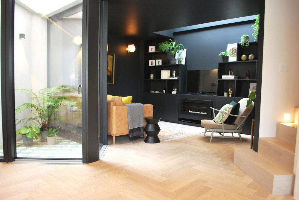 My Dark Snug Living Room Reveal tashsouth.com