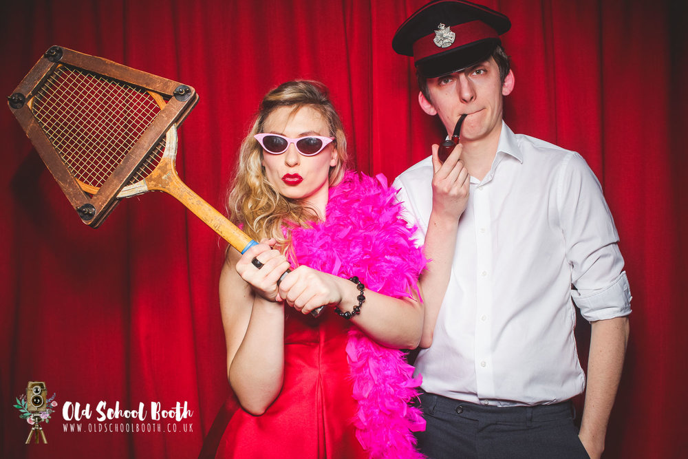 retro photo booth wedding