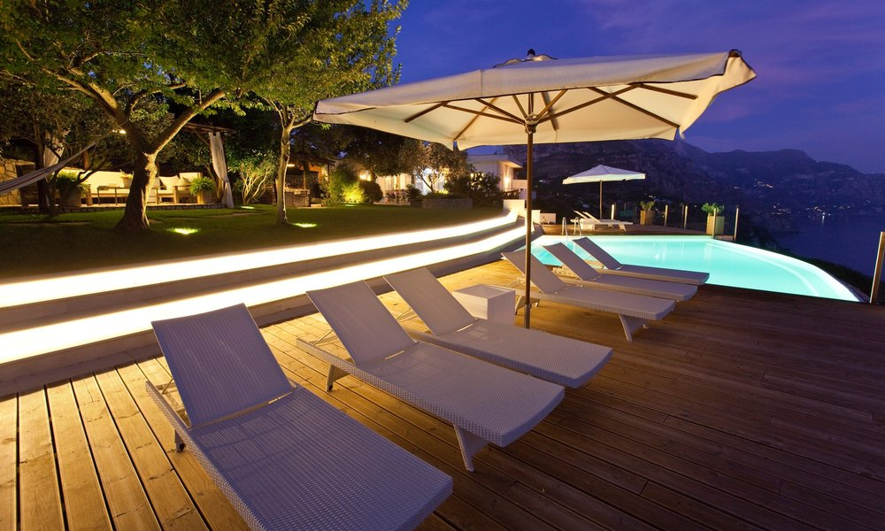 The swimming pool deck of Villa Blue, Amalfi Coast