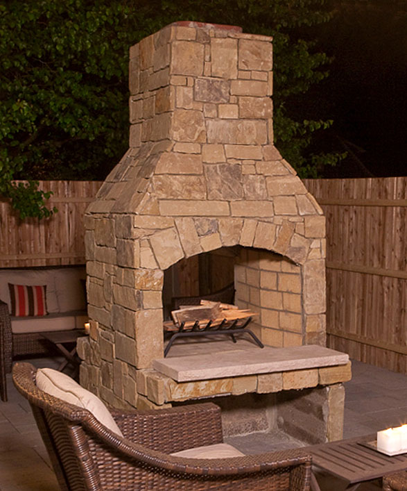 Outdoor Fireplace Kit Photo 5
