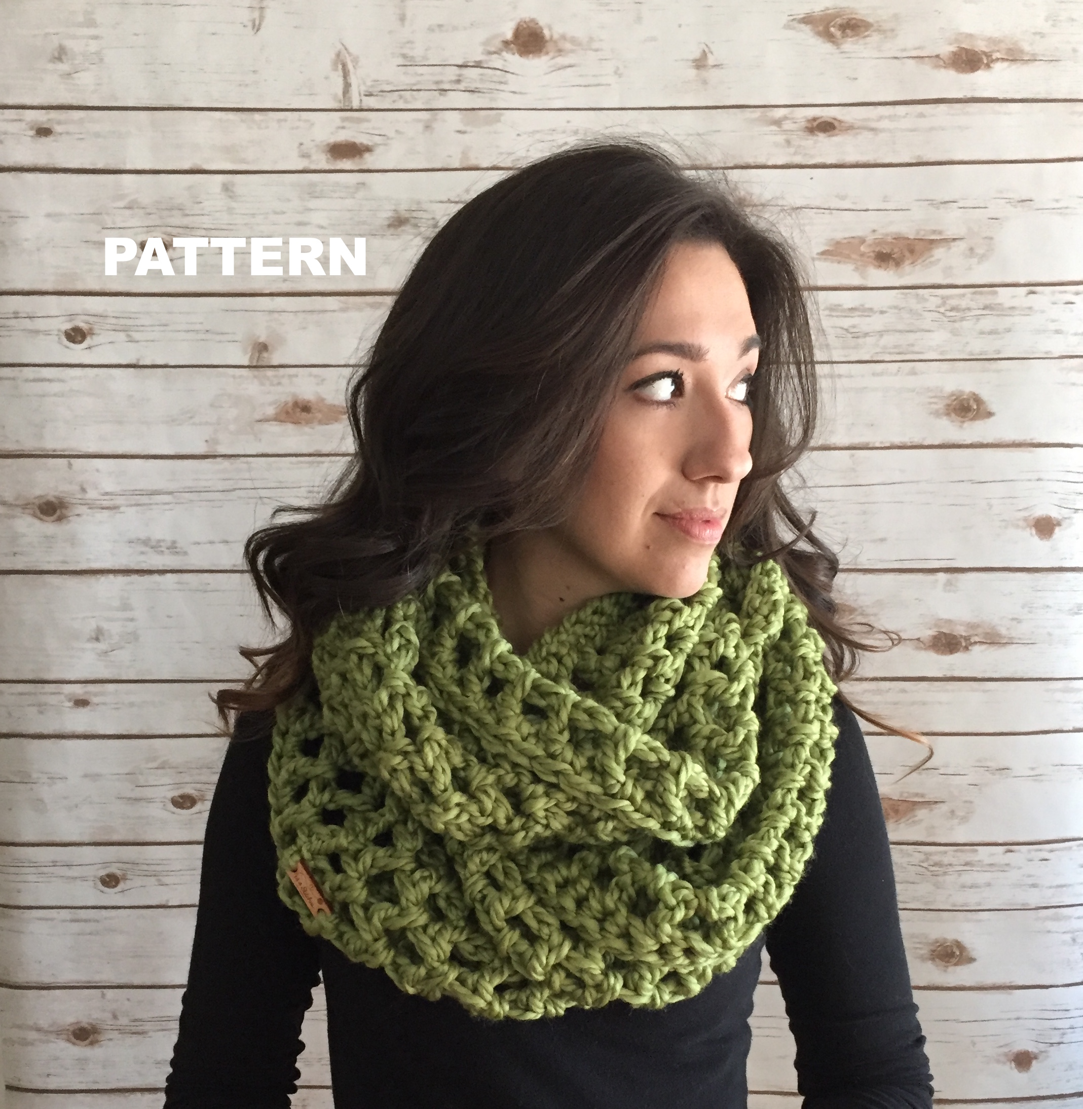 Ollie Oversized Infinity Scarf Crochet Pattern — 144 Stitches
