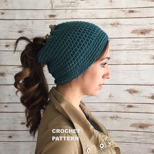 Nikki Open Top Beanie Pattern (Dread Tam Pattern) — 144 Stitches 54845ec769c