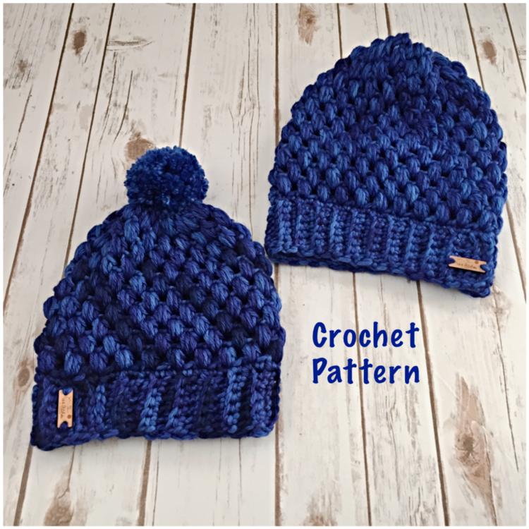 Roma Super Traveller Puff Stitch Hat Crochet Pattern 144 Stitches