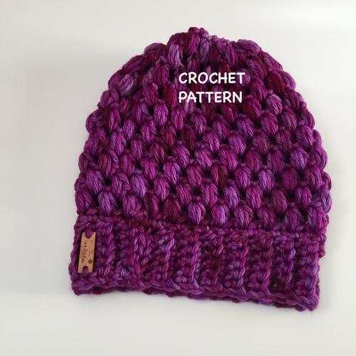 e9e9ba8d113 Manko Cowl   Roma Beanie Puff Stitch Crochet Pattern Set — 144 Stitches