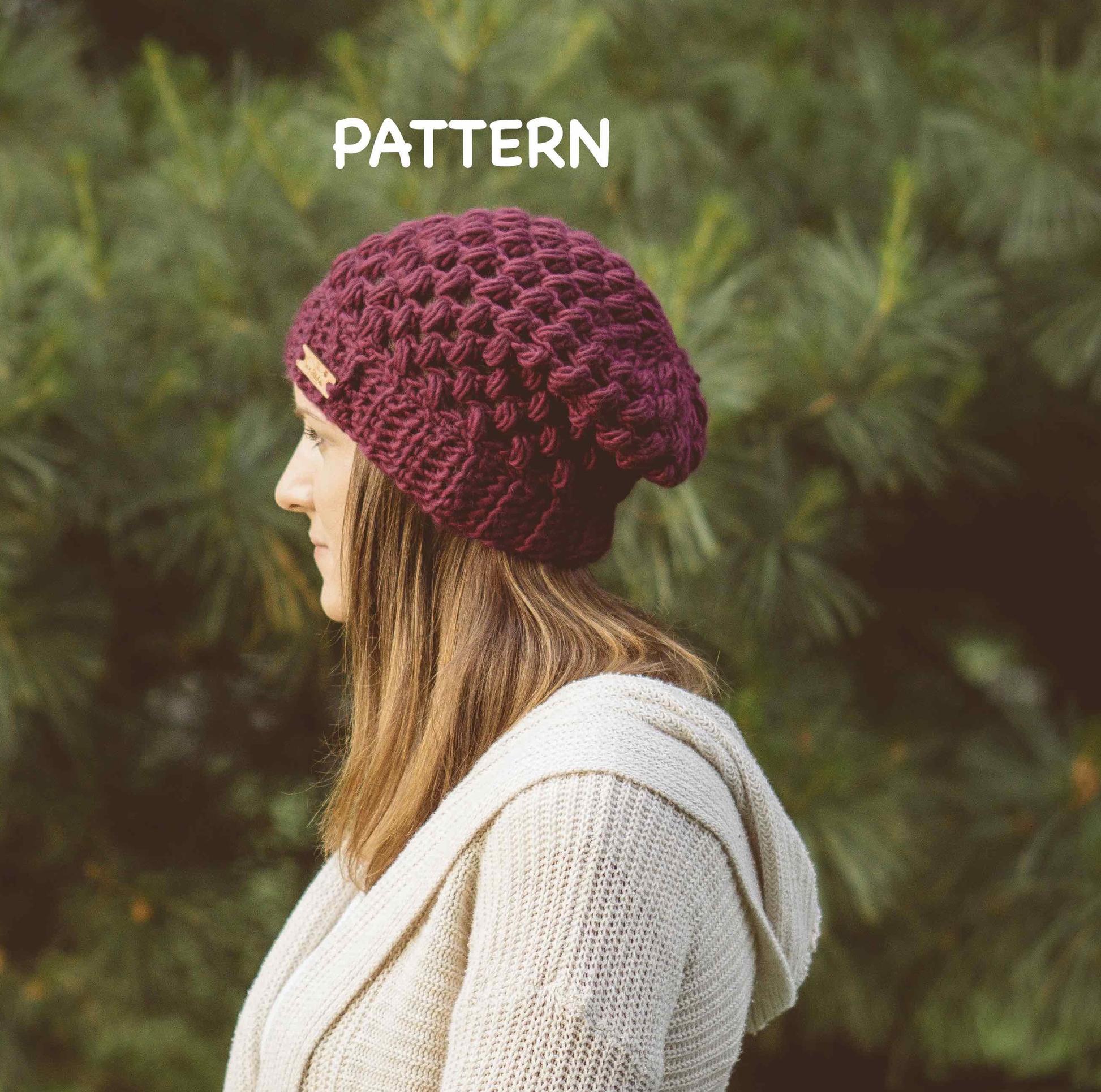 Helix Puff Stitch Beanie Crochet Pattern — 144 Stitches