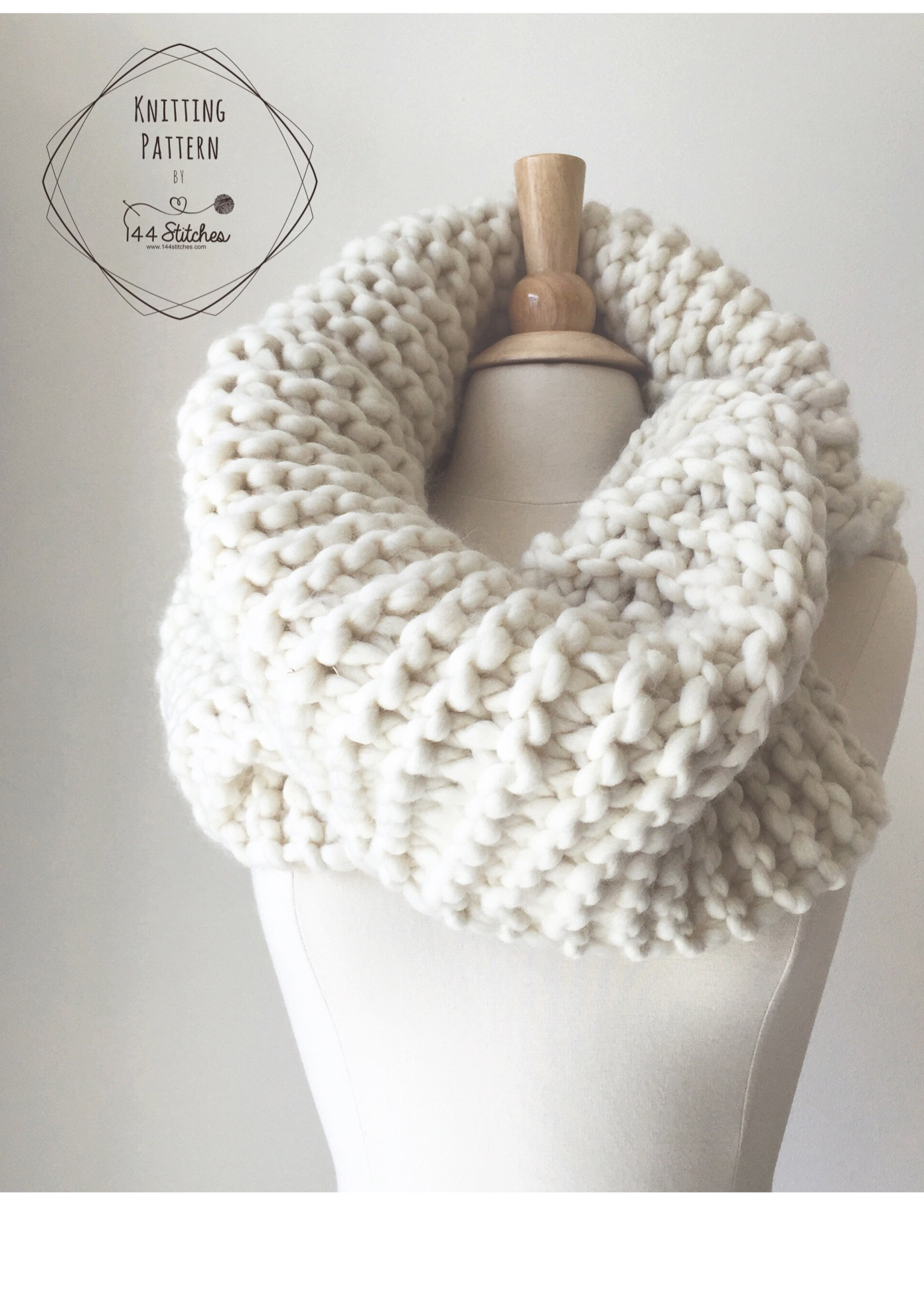 Harbour Cowl Pattern (Knitting) — 144 Stitches
