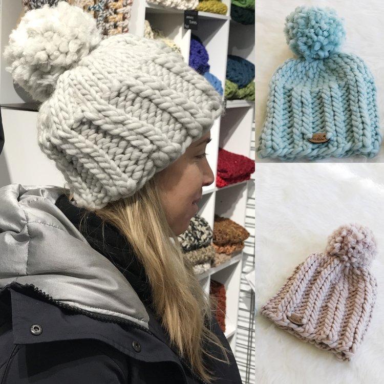 Elizabeth Chunky Knit Beanie Pattern 144 Stitches