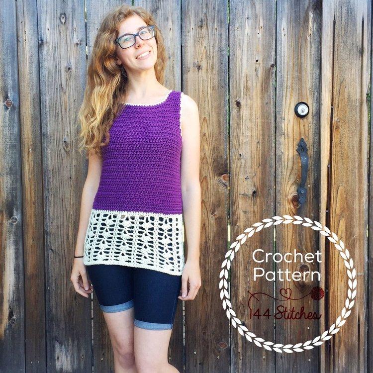 Kirra Beach Tunic Crochet Pattern 144 Stitches