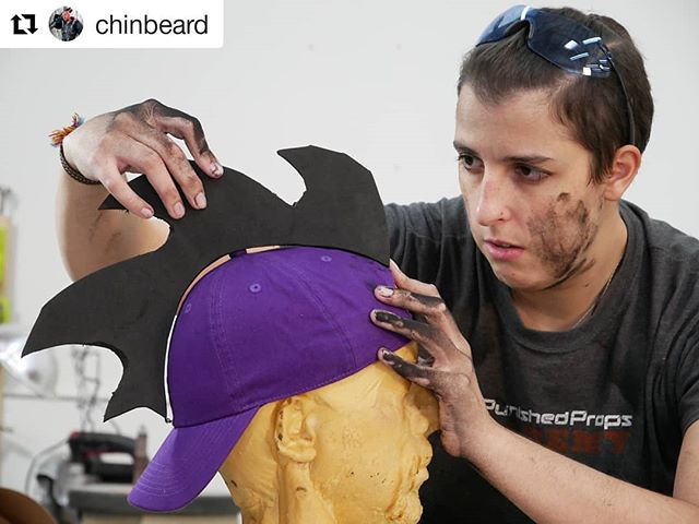 I got to make a sweet hat from my FAVE game with @chinbeard ! We'll show you how we made it on Monday, so stay tuned!  #WIP #Gaming #Purple #foam #Foamsmith #Cosplay #Props #RedBirdProps #Dragon #Hat #FoamDust