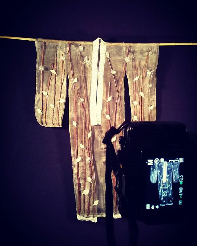 photo shoot #glass #kimono #metal #mesh