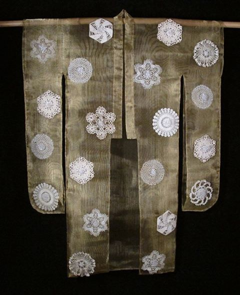 "And ""beauty surrounds"" #glass #kimono #brass #lace"