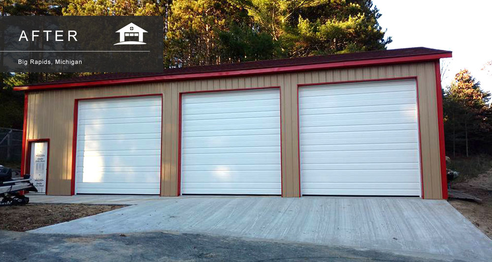 big rapids garage door service installation and repair - Garage Door With Door