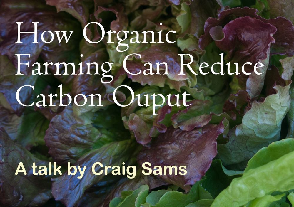Organic Product - Organic Farming and Carbon Output Talk