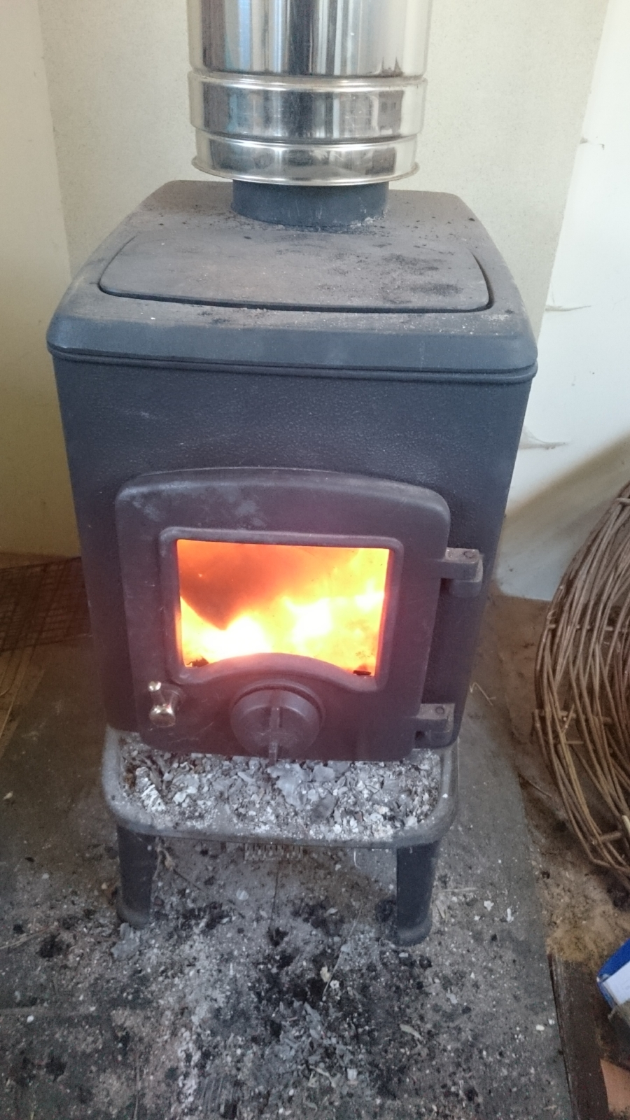 The welcome warmth of the woodburner