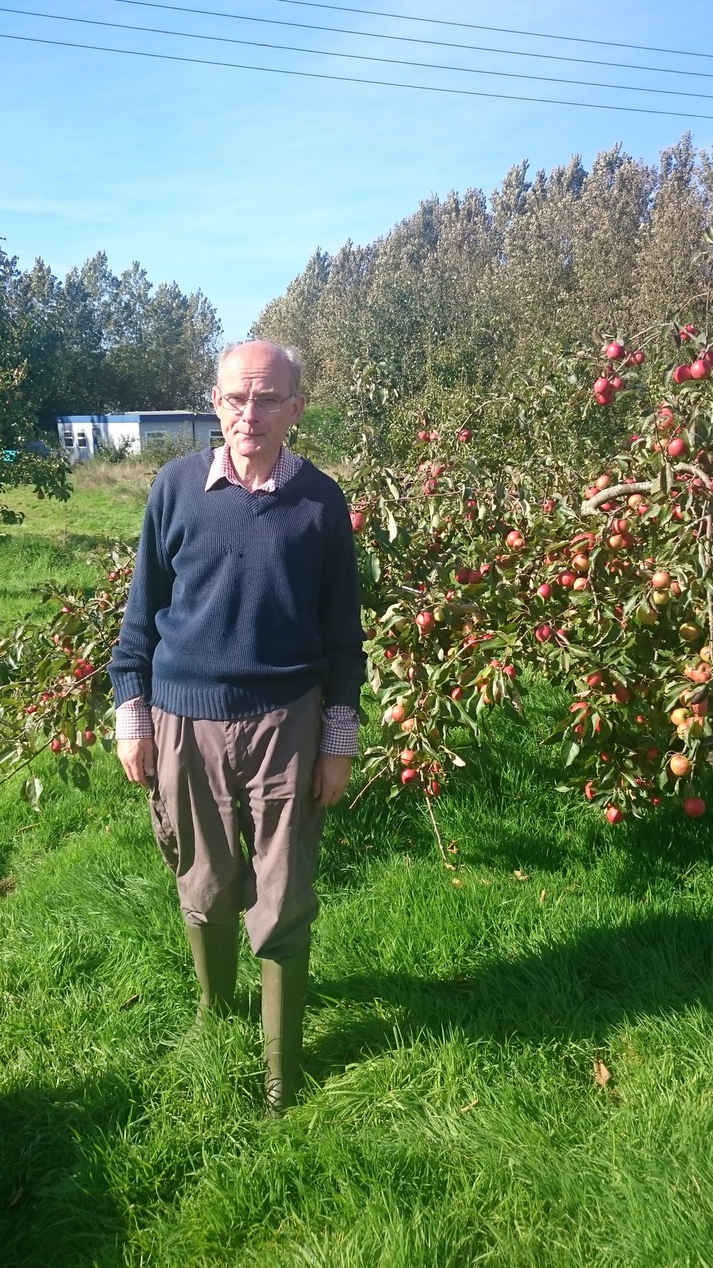 Peter May at Ringmer Community Orchard