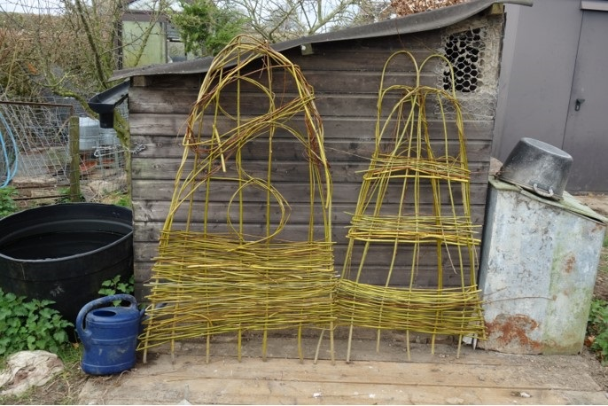 A group did some creative willow weaving