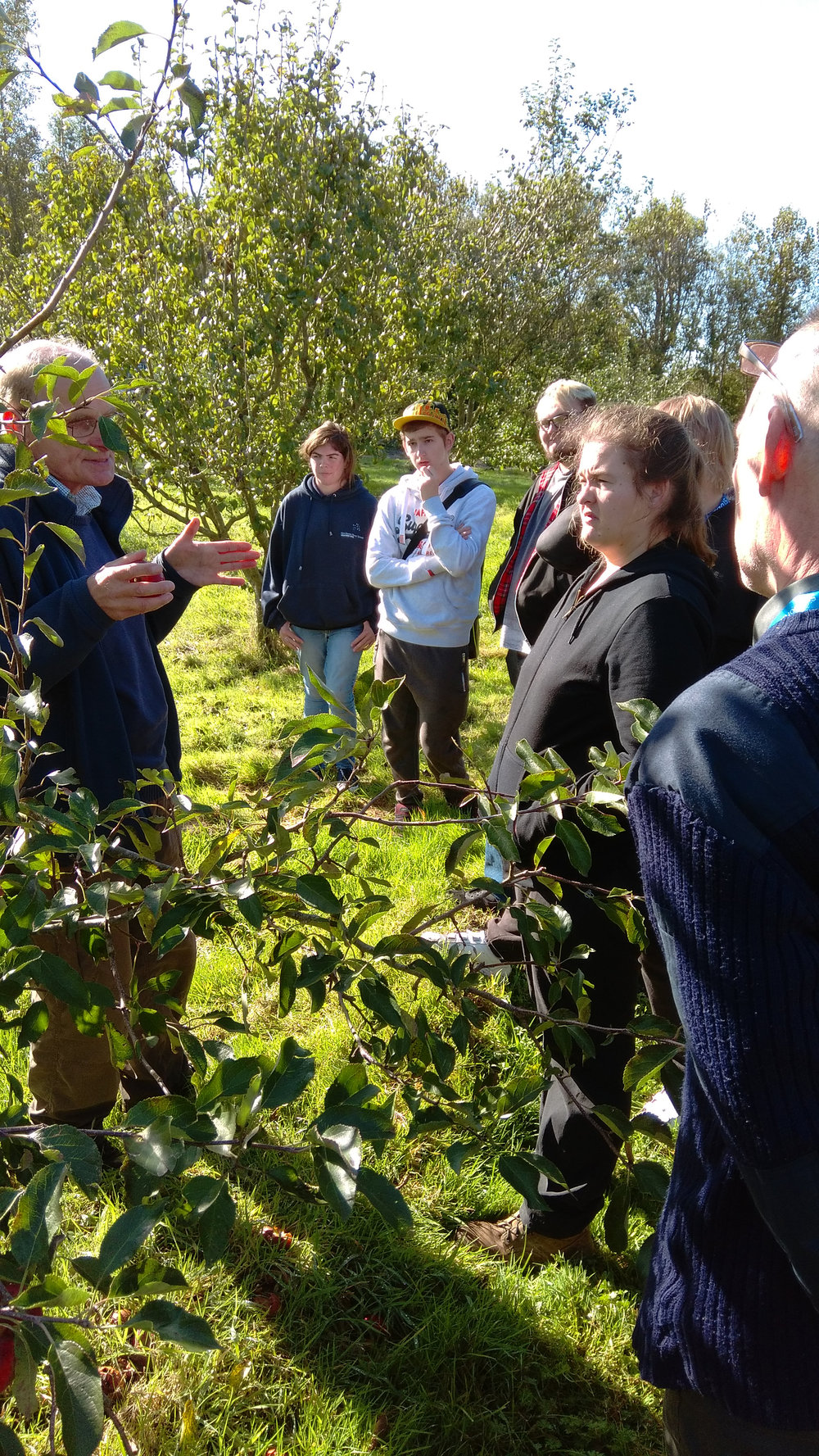 Peter May talking about apples and the history of the orchard