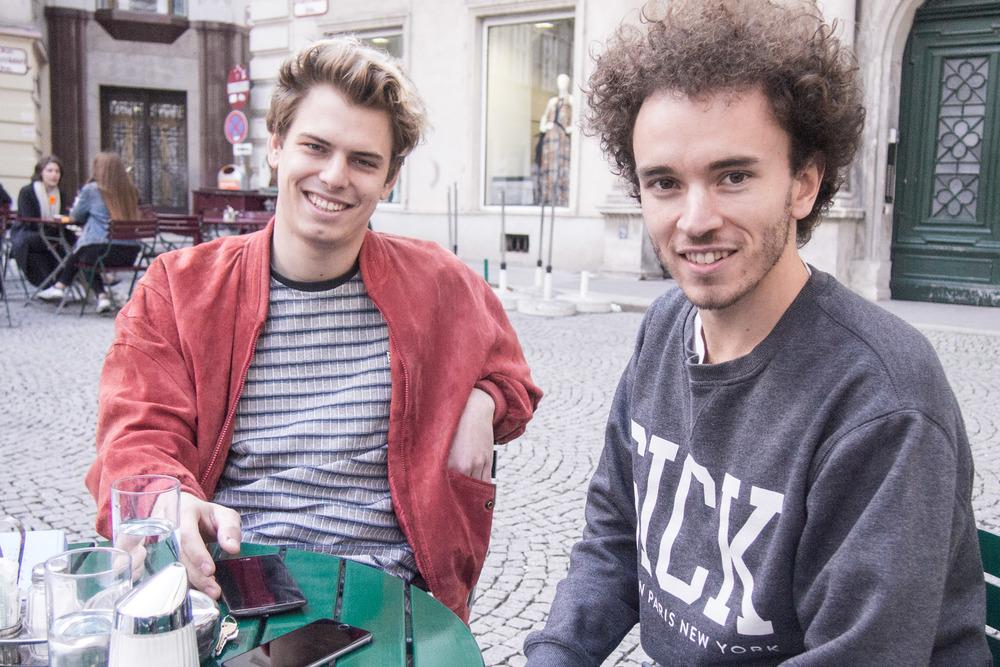 Johannes Jelinek und Robin Poppins von der neuen App bloom (Ob die Nachnamen wirklich stimmen, bin ich mir selbst nicht so sicher:)