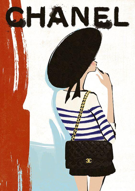 Vintage Chanel Poster auf etsy.com