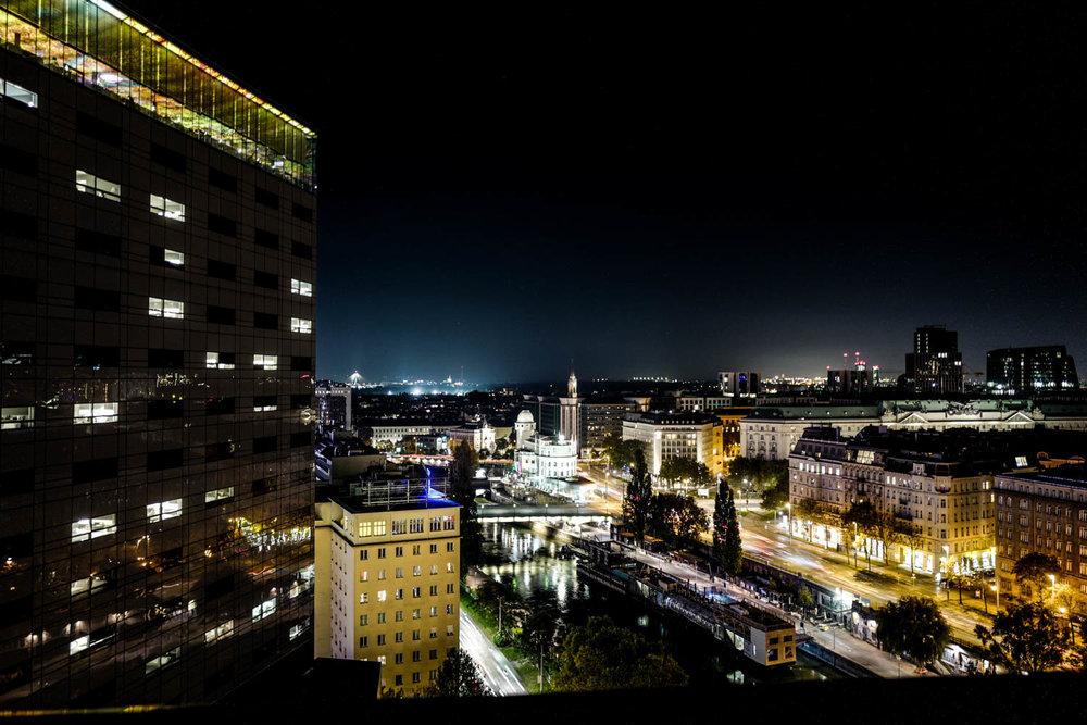 View vom Rooftop der Spelunke Wien © Cecilia Capri